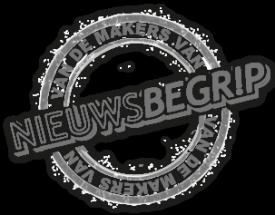 """Logo """"Van de makers van Nieuwsbegrip"""""""