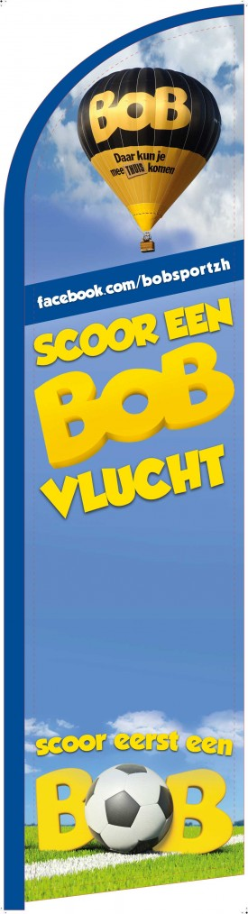 "Beachflag ""Scoor een BOB vlucht"""