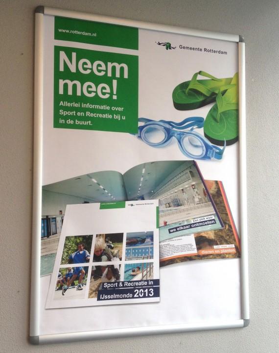 """Vormgeving Poster """"Sport en recreatie in IJsselmonde"""""""