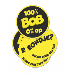 "Bierviltjes ""100% BOB 0% op"""