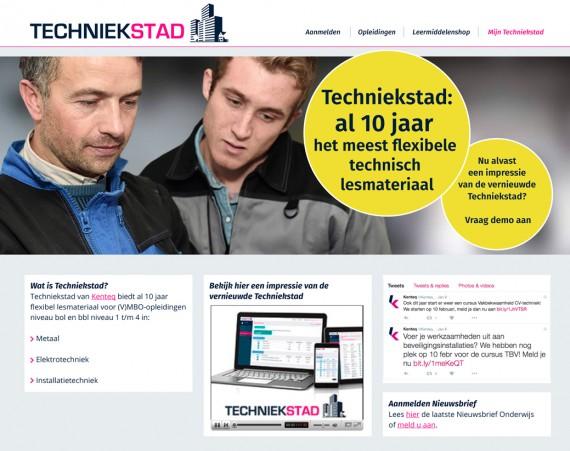 Vormgeving website en Nieuwsbrief Techniekstad