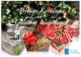 Kerstkaart De Jong Verpakking