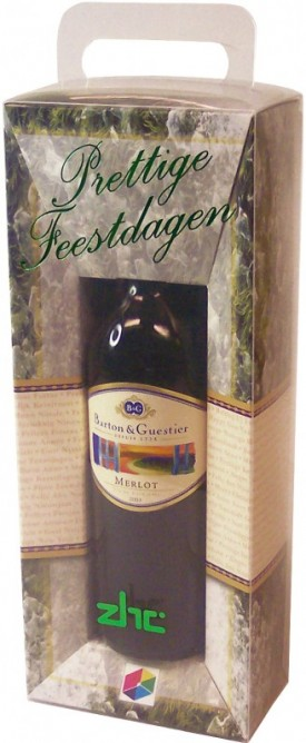 Dubbelwandige wijnverpakking als Kerstgroet
