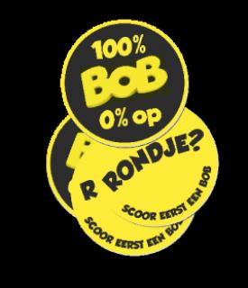 "Bierviltjes ""100% BOB 0% op"""